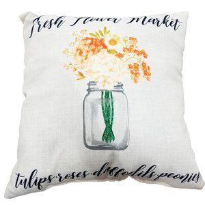 Jordan Manufactoring Accents - 🆕Fresh Flower Market Outdoor Throw Pillow